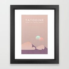 Outer Rim Travel Bureau: Tatooine Framed Art Print