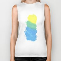 water color Biker Tanks featuring Water Color by Kimberly Jones