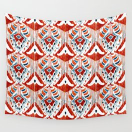 red bali ikat mini Wall Tapestry