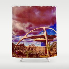 Red Future Shower Curtain