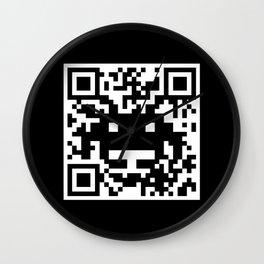 QR Invader Wall Clock