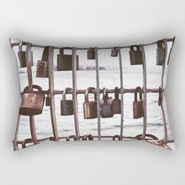 Wellington love locks Rectangular Pillow
