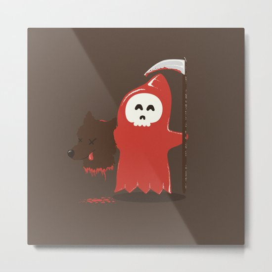 Little Death Riding Hood Metal Print