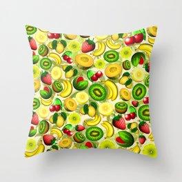 Summer Fruits Juicy Pattern  Throw Pillow