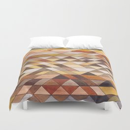 Triangle Pattern Fall Colors Duvet Cover