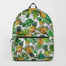 Tumbling Pineapples and Tropical Vibes Backpack