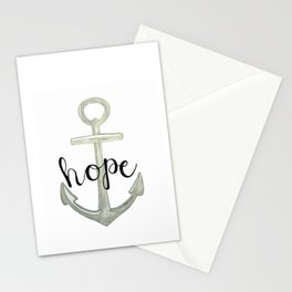 Hope, we have this hope as an anchor for the soul, Hebrews 6:19 Stationery Cards