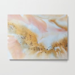 Gold and pink marble Metal Print