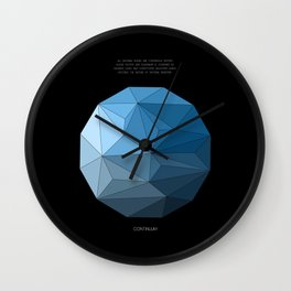 Continuum black Wall Clock