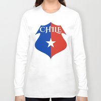 chile Long Sleeve T-shirts featuring Chile by jekonu