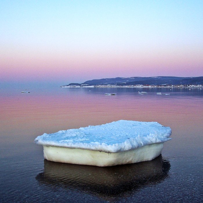 Ice Raft on the Sea Duvet Cover