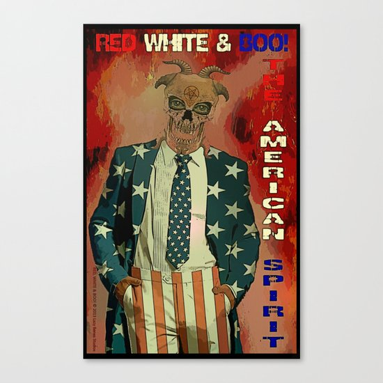 RED WHITE AND BOO - 003 Canvas Print