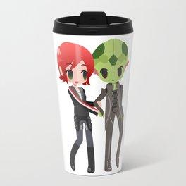 Mass Effect - Shepard and Thane [Commission] Travel Mug