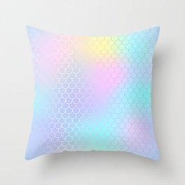 Rainbow Mermaid Abstraction Throw Pillow