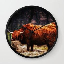 Hairy Coo Wall Clock