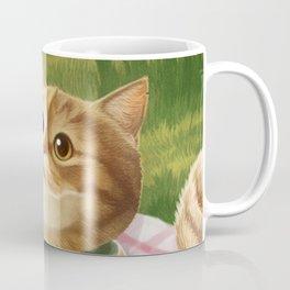 A cat is having a picnic Coffee Mug