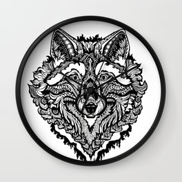 Spirit Wolf Wall Clock