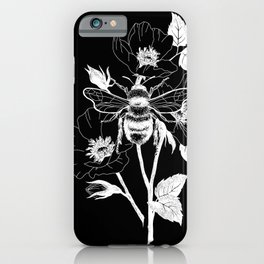Save the bees black iPhone Case