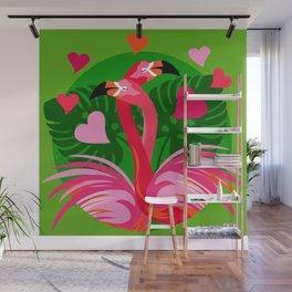 Flamingo Hug Wall Mural
