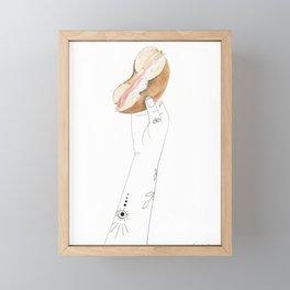 Power Bagel Framed Mini Art Print