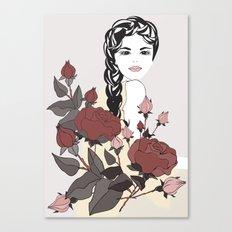 Virgo Lady | Zodiac Sign | Horoscope Art | September  Canvas Print