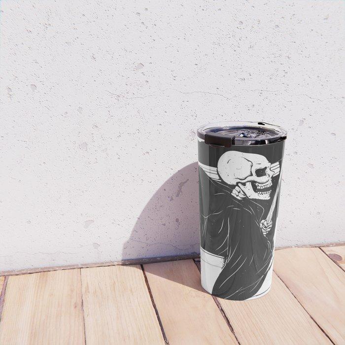 Passenger taxi grim - black and white - gothic reaper Travel Mug