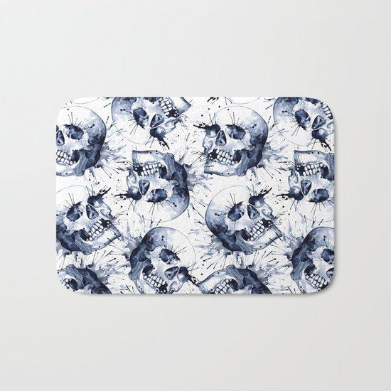 Skull Pattern Bath Mat