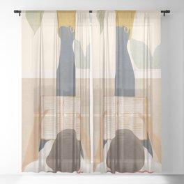 Bookworm Sheer Curtain