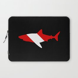 Diving Flag: Shark Laptop Sleeve