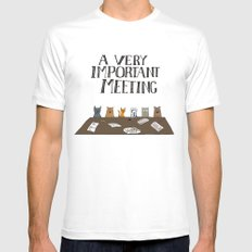 A Very Important Meeting Mens Fitted Tee White MEDIUM