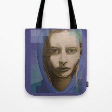 Real girl, digital world Tote Bag