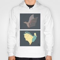 bats Hoodies featuring Bats by Kat Manderfield