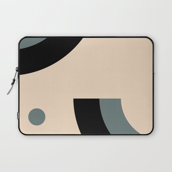 Gray Pink Black Laptop Sleeve