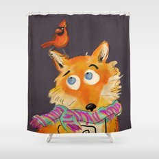 Hello You Mr Fox Shower Curtain