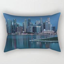 Marina Bay of Singapore Skyline at Night Rectangular Pillow