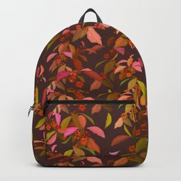 Beautyberry on Purple Backpack