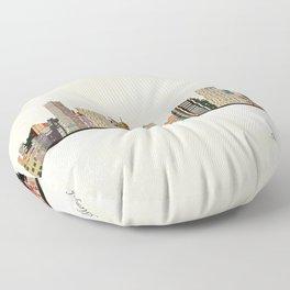 memphis skyline Floor Pillow