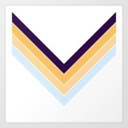 V Shape Colorful Retro Stripes Seonangsin Art Print