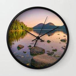 Acadia National Park Jordan Pond Sunrise Photography Print Wall Clock