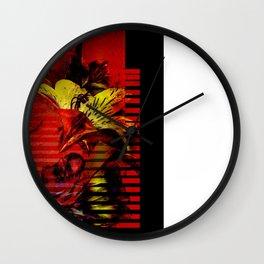 Flor kitsch I love Wall Clock