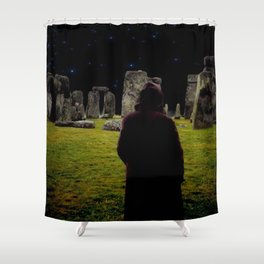 Druid Princess of Stonehenge Shower Curtain