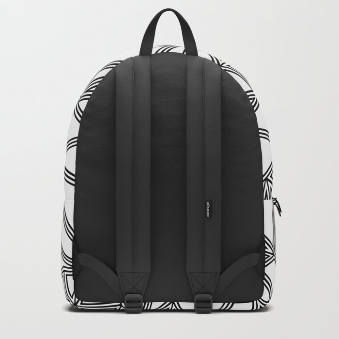 Abstract New Black on White Backpack