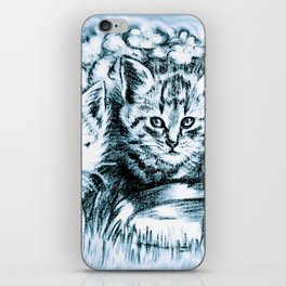 Blue Baby Cats iPhone Skin