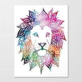 Rainbow Leo Canvas Print