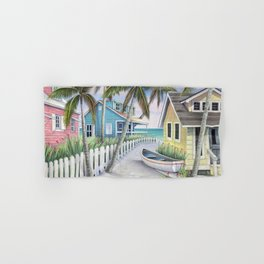 Tropical Beach Cottages Hand & Bath Towel