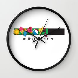 Summertime Wall Clock