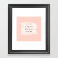 Old ways don't open new doors -pastel motivational quote Framed Art Print