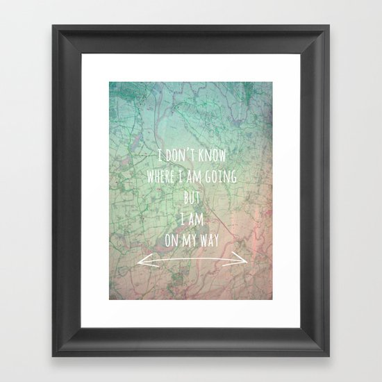 I'm On My Way Framed Art Print