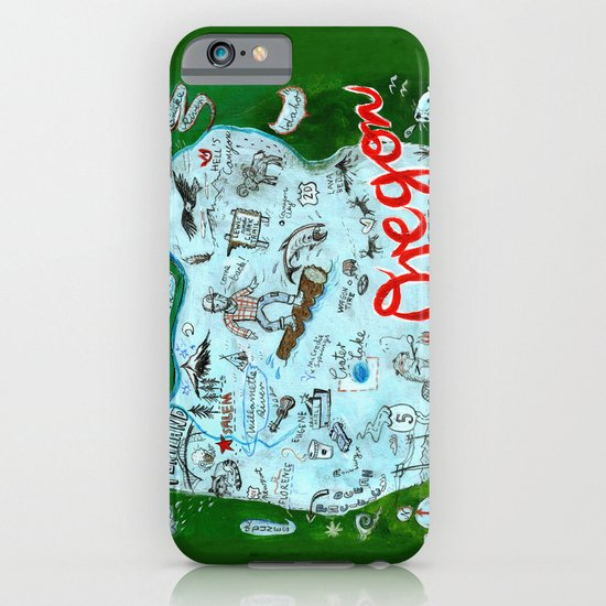 Map of Oregon iPhone & iPod Case