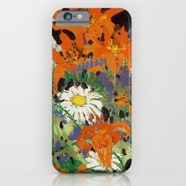 Tom Thomson - Marguerites, Wood Lillies and Vetch - Canada, Canadian Oil Painting - Group of Seven iPhone Case